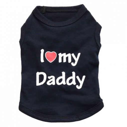 T-Shirt for dogs with text i love my daddy