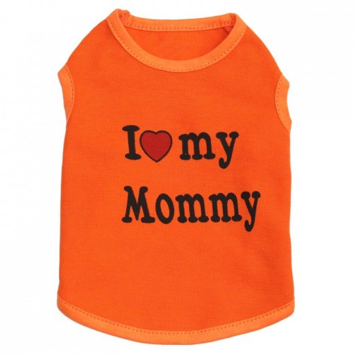 T-Shirt for dogs with text i love my Mommy