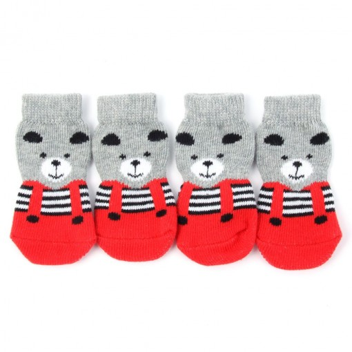 Anti-Slip Pet Sweet Knitted Socks