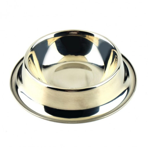 Standard Water Bowl Dish Stainless Steel for Puppy