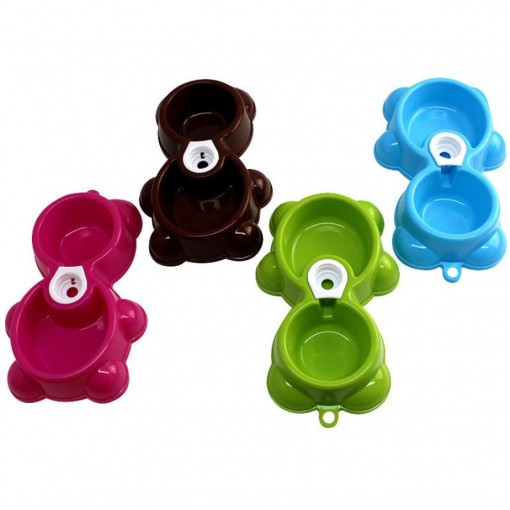 Water Food Feeder Two Way Bowl