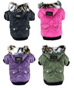 Cute Warm Coat For Pet Faux Pockets