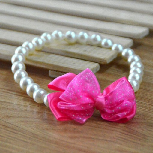 Pearl Fashion Bowtie Collar wedding Accessory