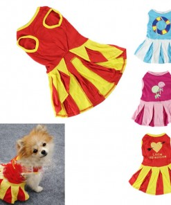 Skirt Stripe Clothes Various Pet Puppy Mini Dress